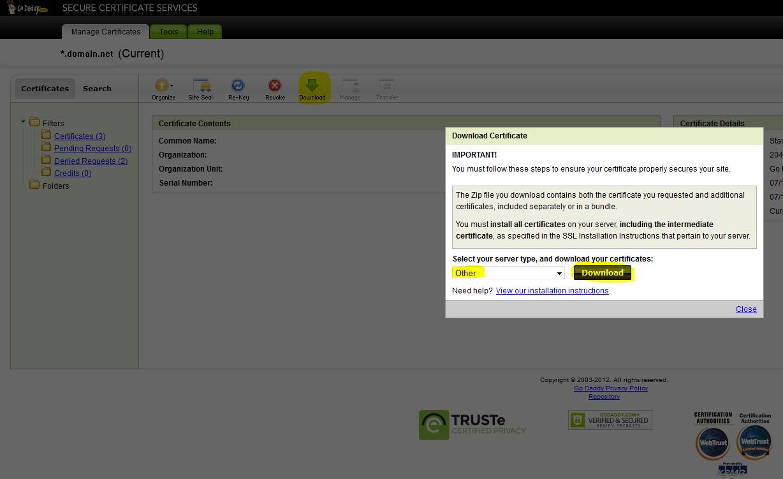 Godaddy wildcard certificates on barracuda load balancer jacks extract xflitez Choice Image